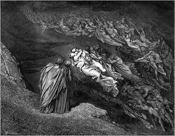 Illustation of Francesca da Rimini and Paolo Malatesta by Gustave Dore