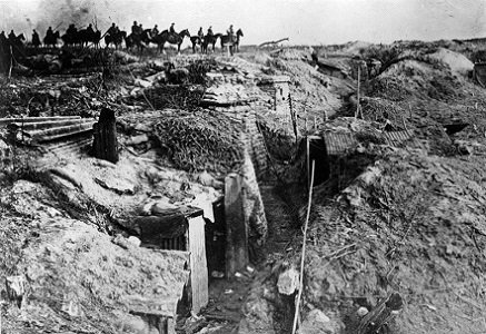 German Divisions near a British Trench