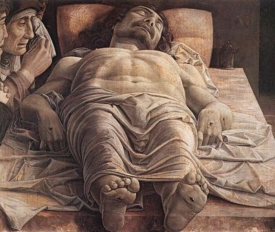 Lamentation over the Dead Christ by Andrea Mantegna
