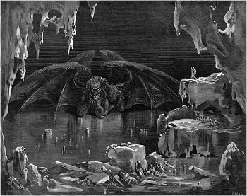 Illustration of Lucifer by Gustave Dore