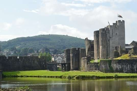 Caerphilly Castle Moat