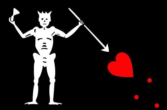 Pirate Flag of Edward Teach Blackbeard