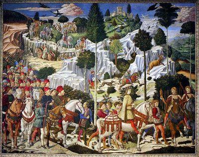 Procession Of The Magi By Benozzo Gozzoli