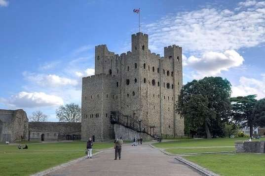 Square Stone Keep at Rochester Castle