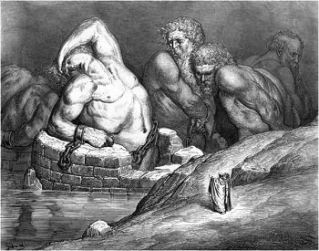Illustation of Titans and other giants by Gustave Dore